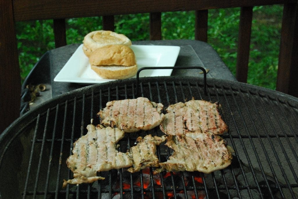 grilled pork tenderloin sandwhich