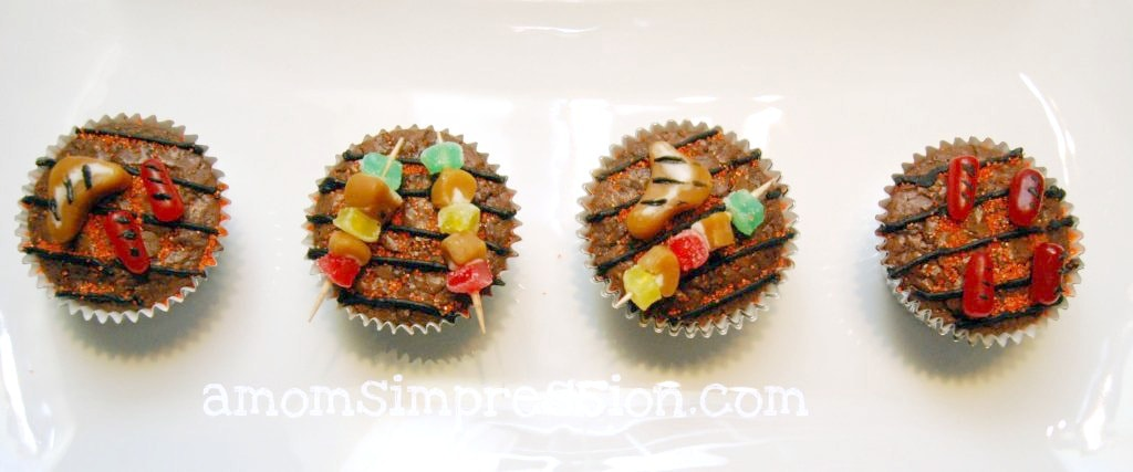 BBQ Themed Cupcakes