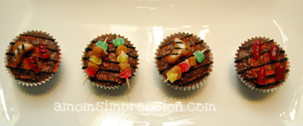 called them cupcakes but these grilled inspired cupcakes are ...