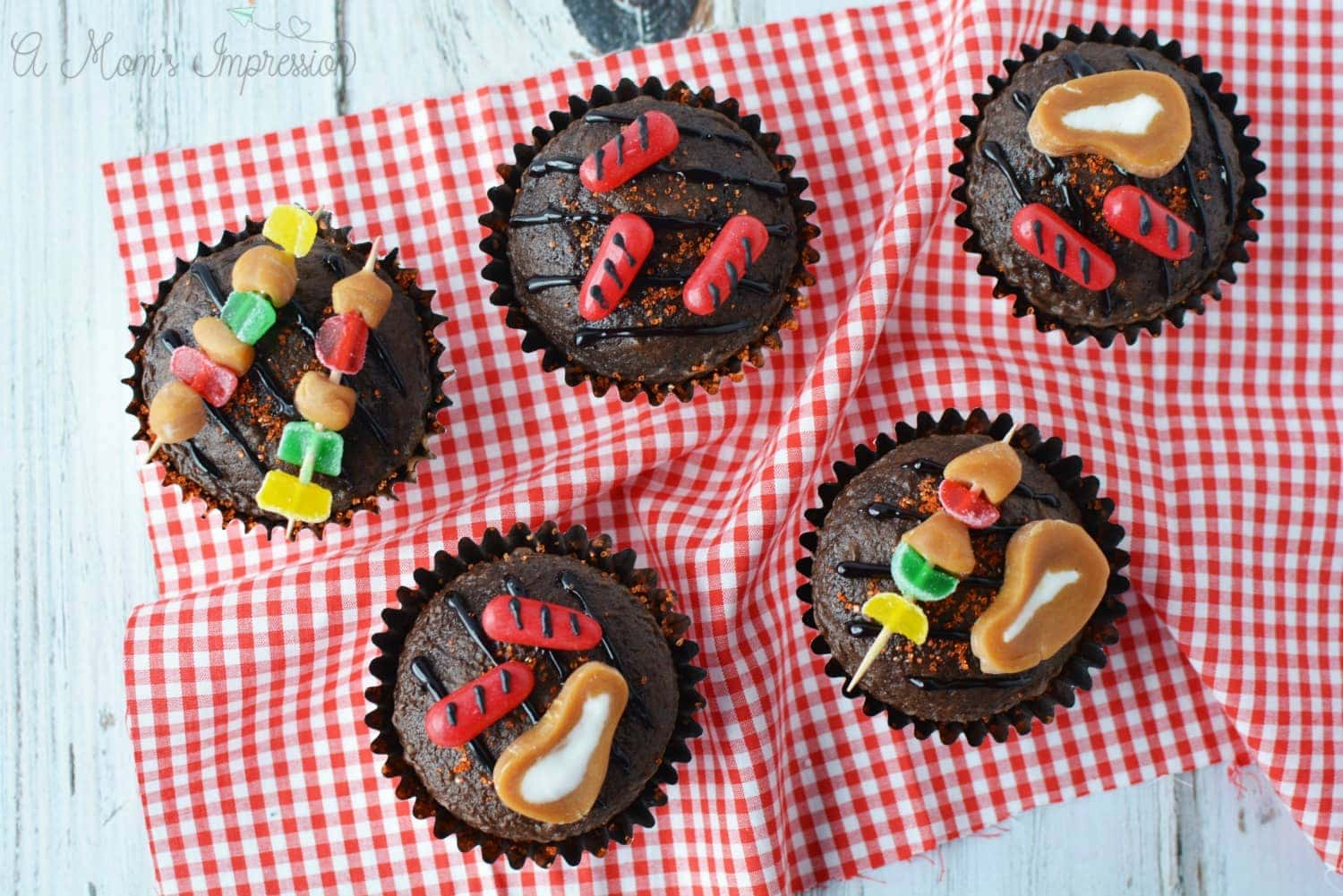 brownie grill cupcakes