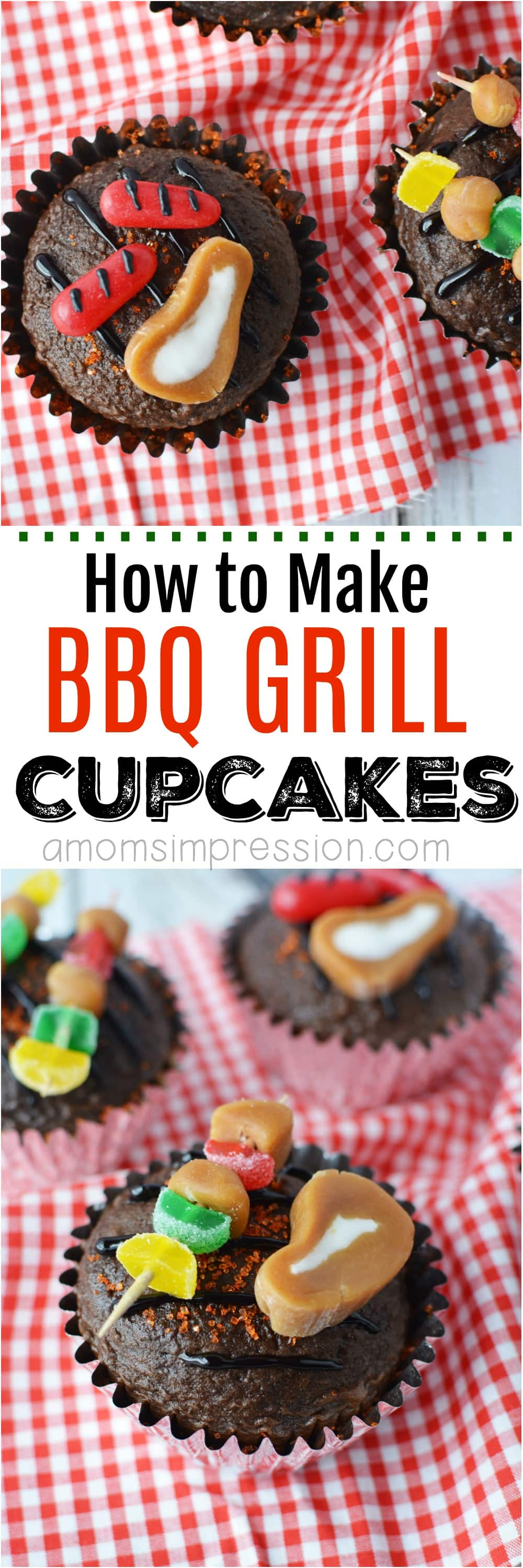 These adorable BBQ Grill Cupcakes will be the hit of any Father's Day party or outdoor summer BBQ. Made with brownies or chocolate cupcakes, these bbq cupcakes are easier to make than you might think. Get the easy step-by-step directions.