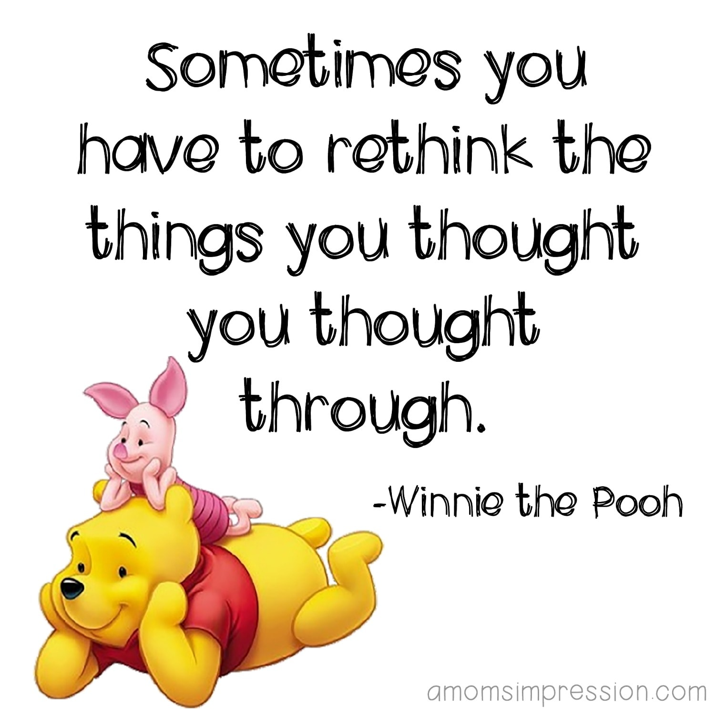 Rethinking Pooh Quote