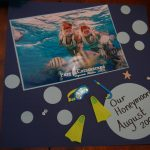 Creating My Honeymoon Memory Page with Elmer's – #gluenglitter #CBias