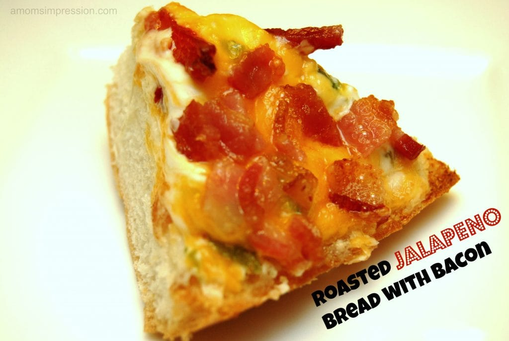 Roasted Jalapeño Bread with Bacon by amomsimpression.com
