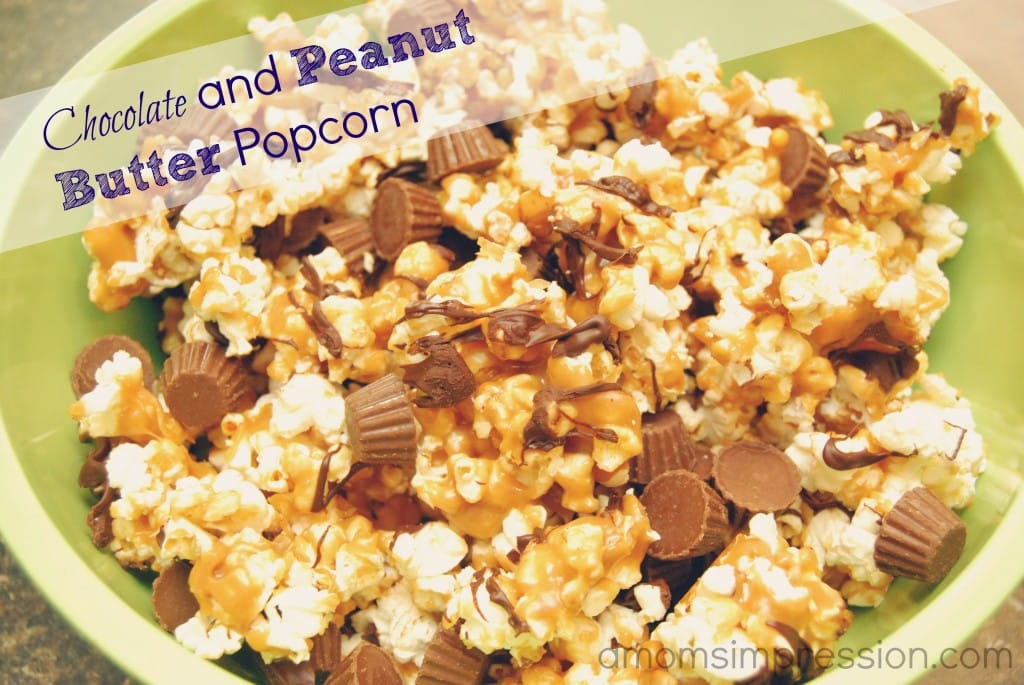 Chocolate and Peanut Butter Popcorn