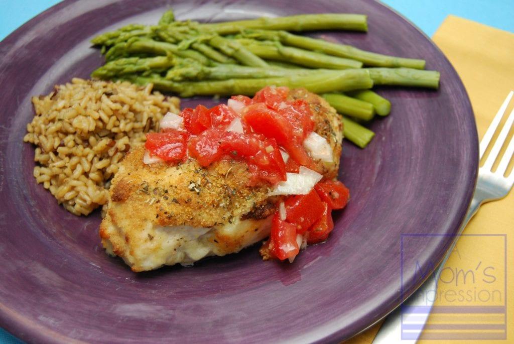 Parmesan-Crusted Bruschetta Chicken - A Mom's Impression | Parenting ...