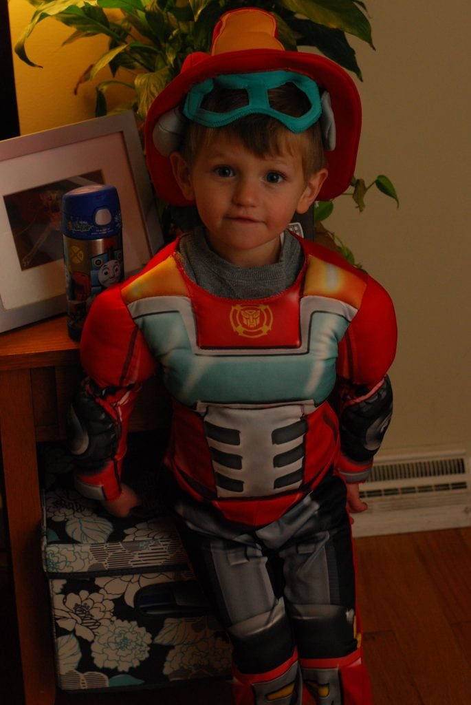 Jonah went as HeatWave the Rescue Bot!