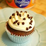 Chocolate Chip Cupcakes with Cream Cheese Cool Whip Frosting #Giveaway