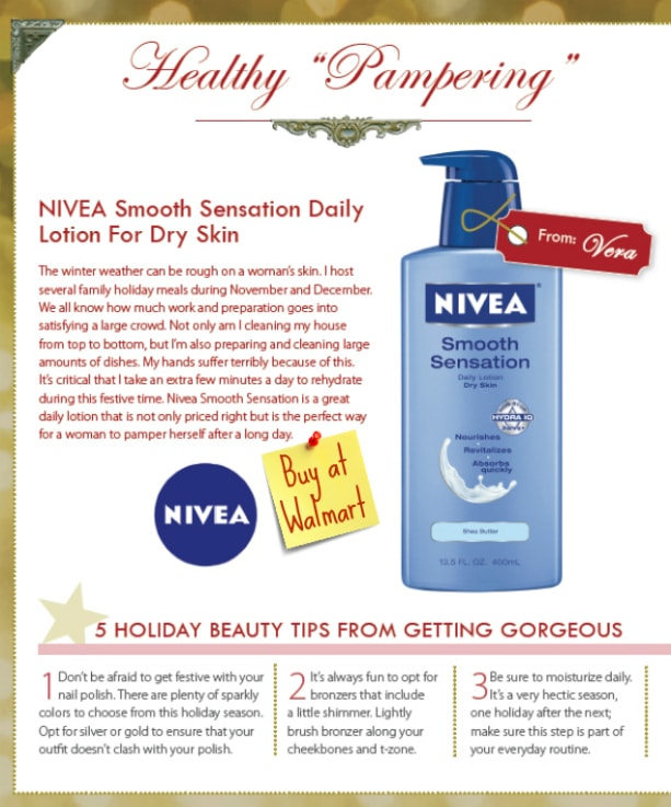 Party Bluprints Nivea page #HolidayGuide