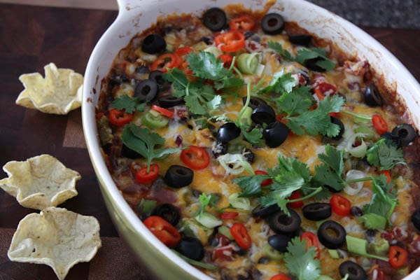 Black Bean Fiesta Dip from aggieskitchen.com