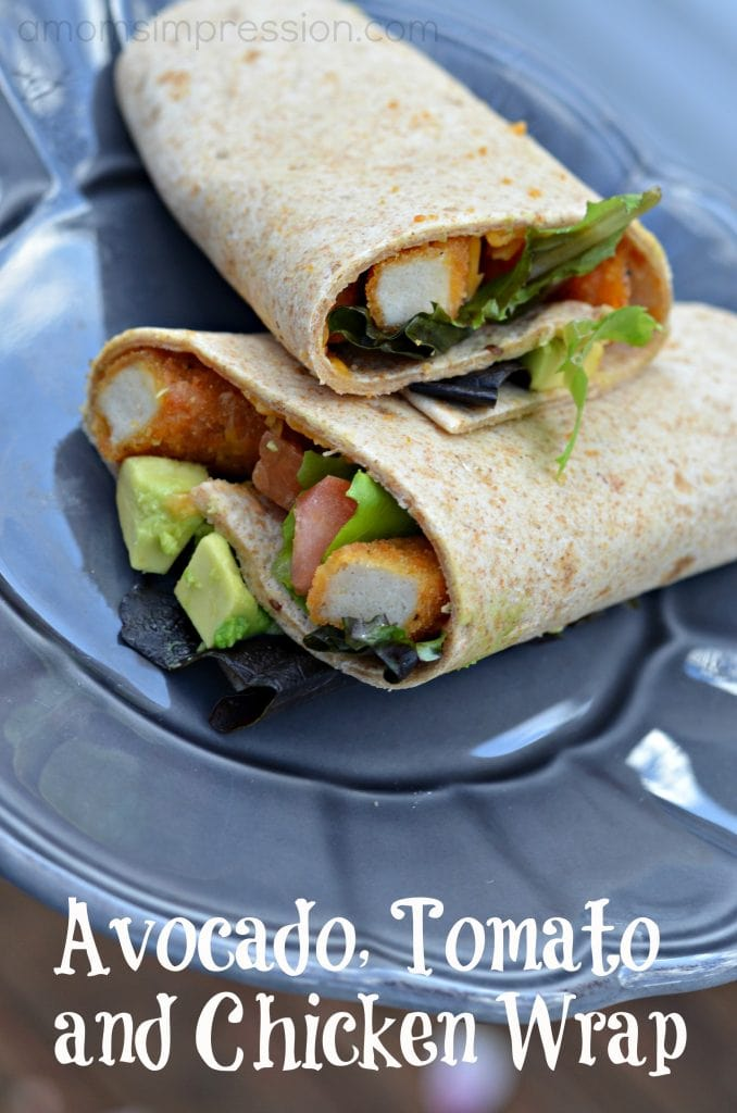 Avocado Tomato and Chicken Wrap