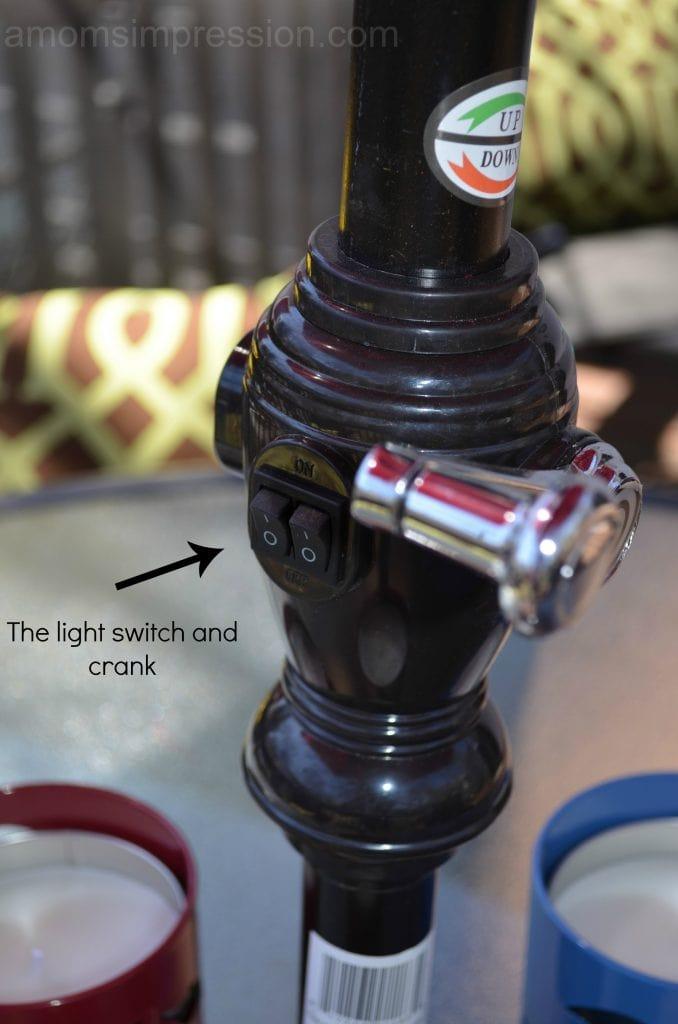 Solar Umbrella switch