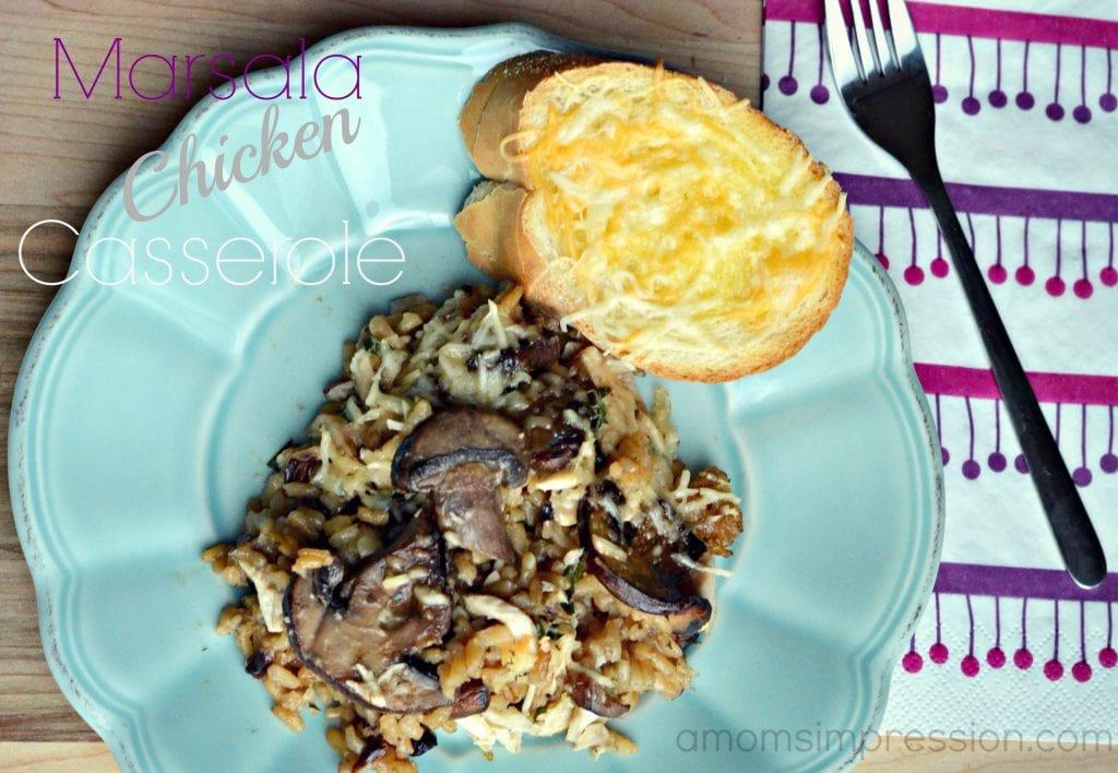 Marsala Chicken Casserole