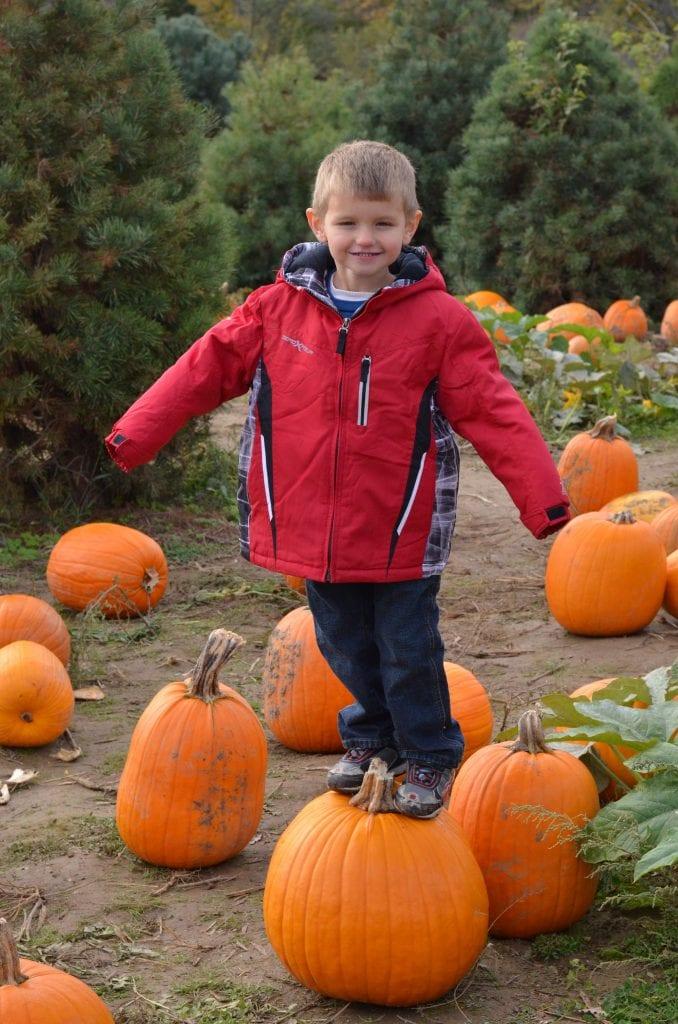 Standing on a Pumpkin