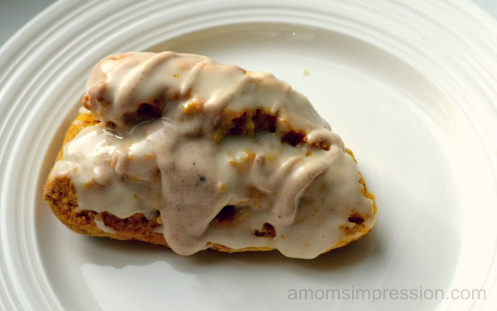 Pumpkin Scones with Pumpkin Spice Coffee Glaze #shop