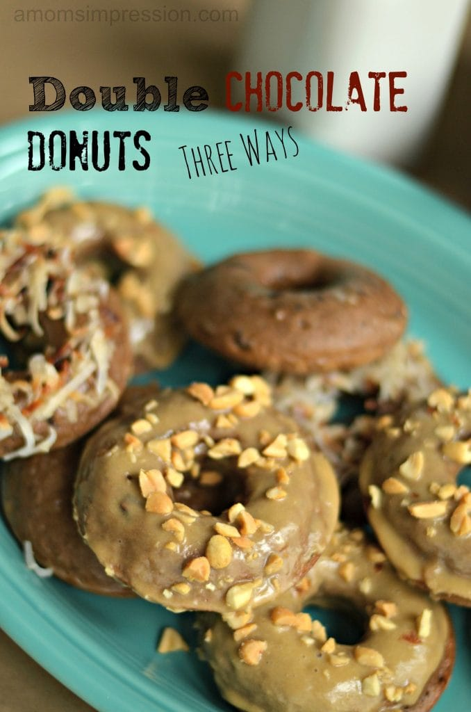 Baked Double Chocolate Donuts Three Ways #KraftEssentials #shop