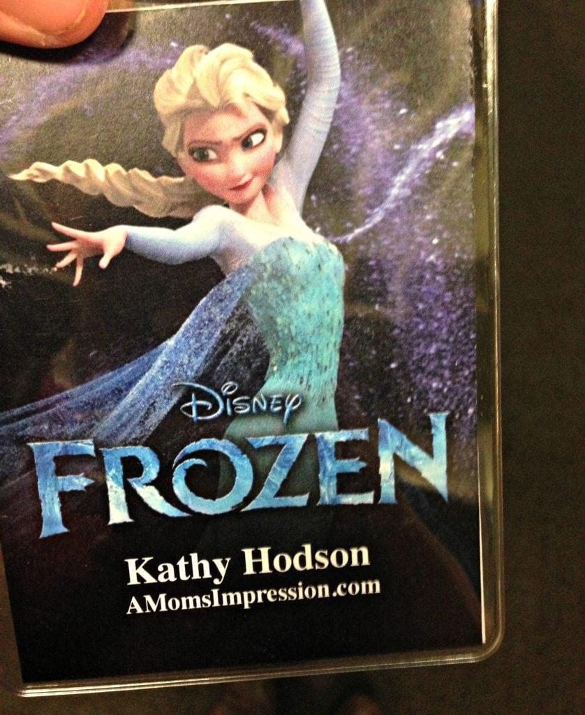 Frozen Press pass