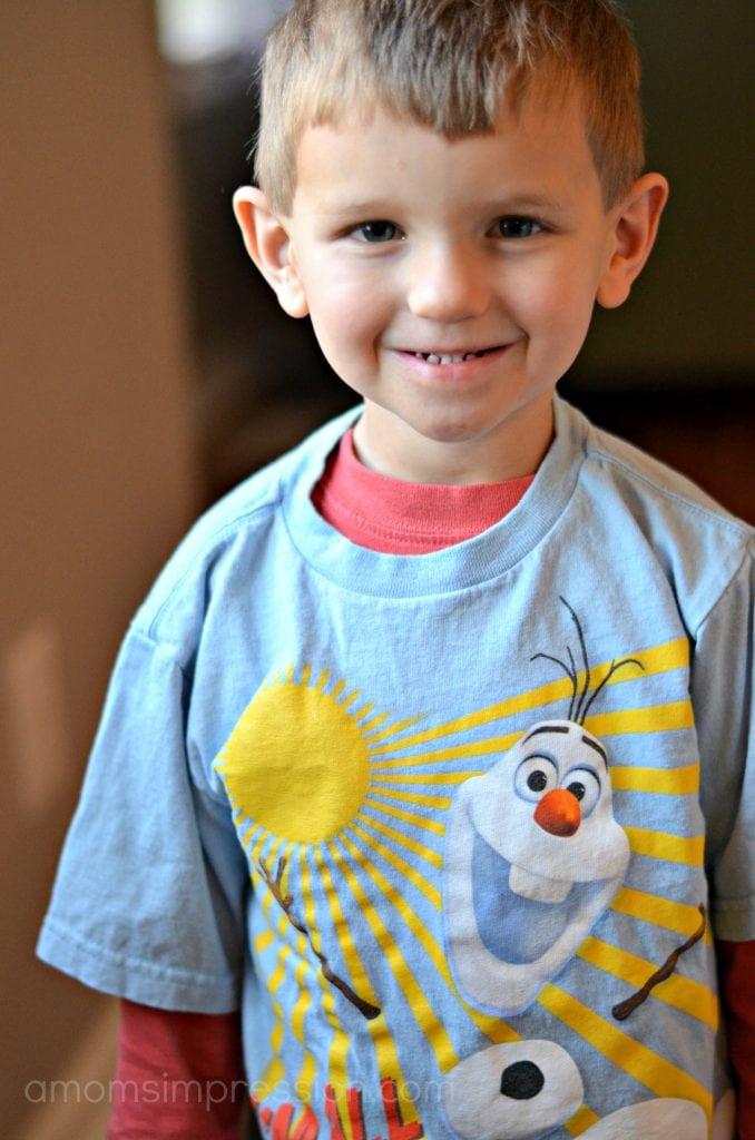 Olaf boys shirt