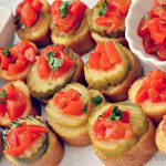 Ad: Spicy Corn Dog Bites with Sriracha Sauce and Roasted Red Peppers