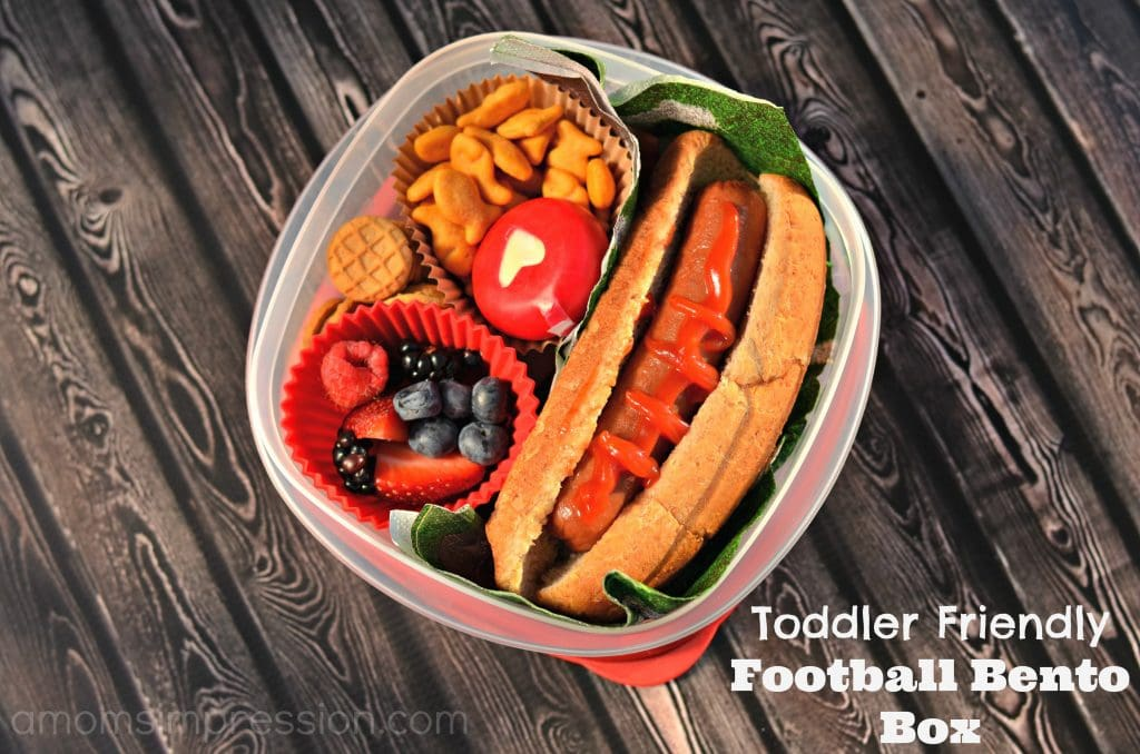 Toddler Friendly Football Bento Box