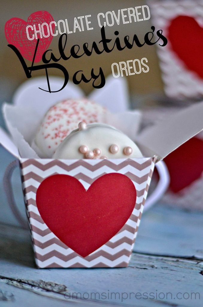 Chocolate Covered Valentine S Day Oreos A Mom S Impression