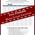 2014 Personal Goals and a Free Water Intake Calendar Printable