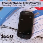 Join Me At The #FamilyMobile #MaxYourTax Twitter Party Tuesday February 11th!