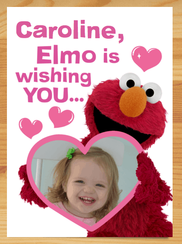 Elmo Personal Valentine's Day Card