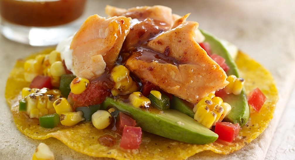 Salmon-Tostada-with-Chamoy-and-Charred-Corn-Relish_Recipes_1007x545.ashx