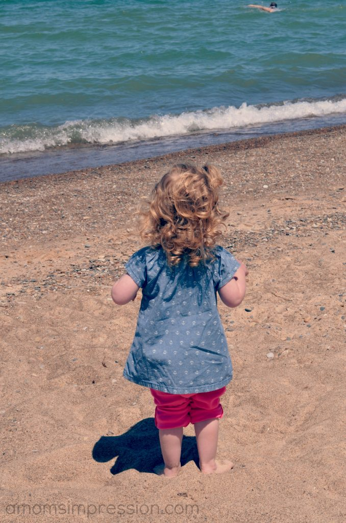 Caroline on the beach