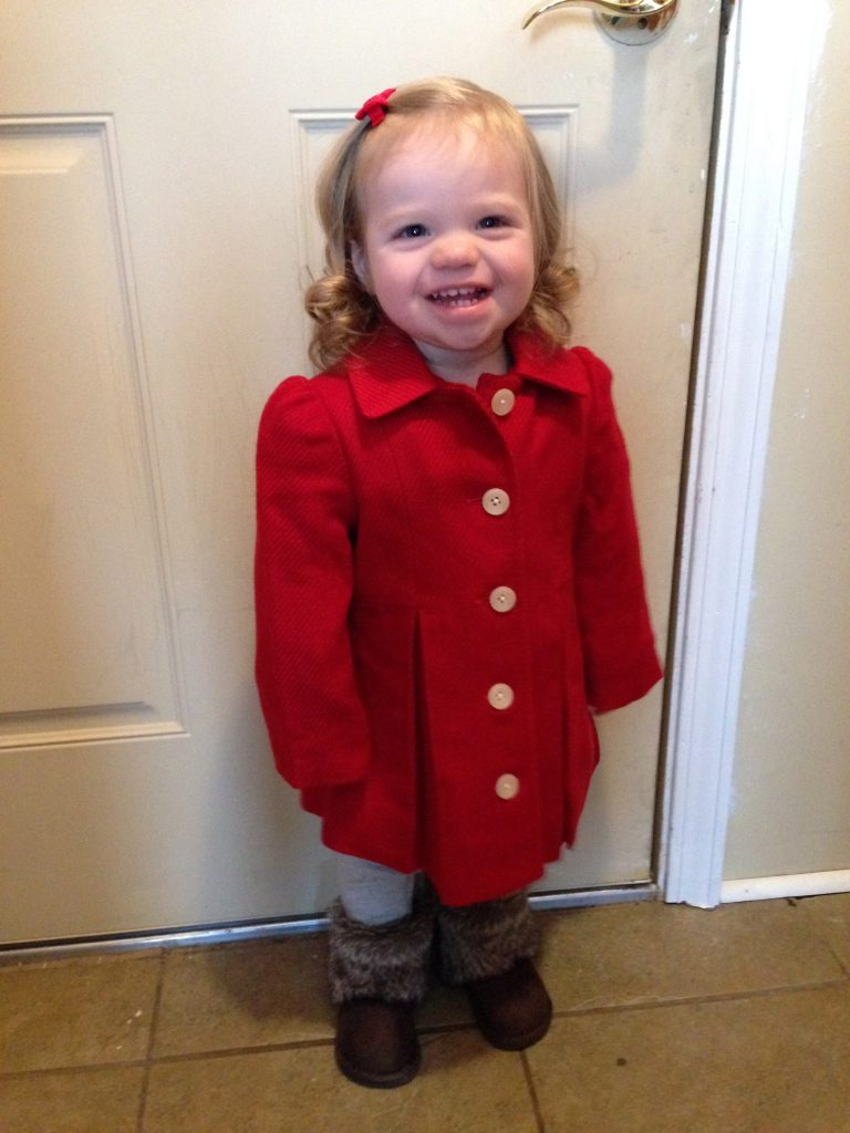 Little Miss in her red jacket