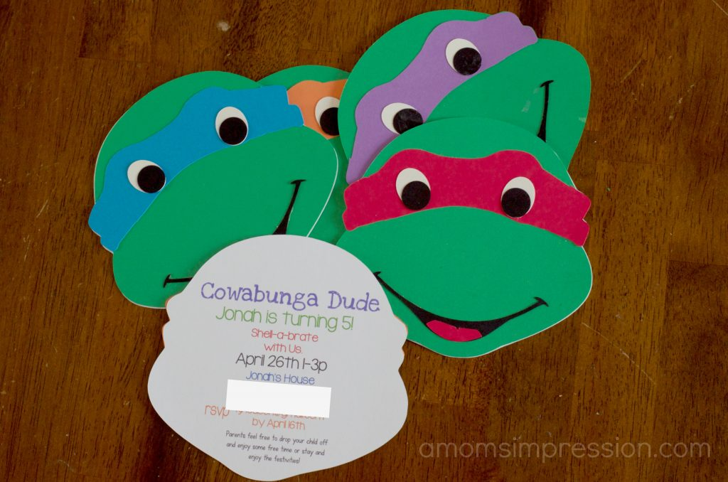 TMNT Birthday Ideas Awesome Teenage Mutant Ninja Turtle Activities – Turtle Birthday Invitations