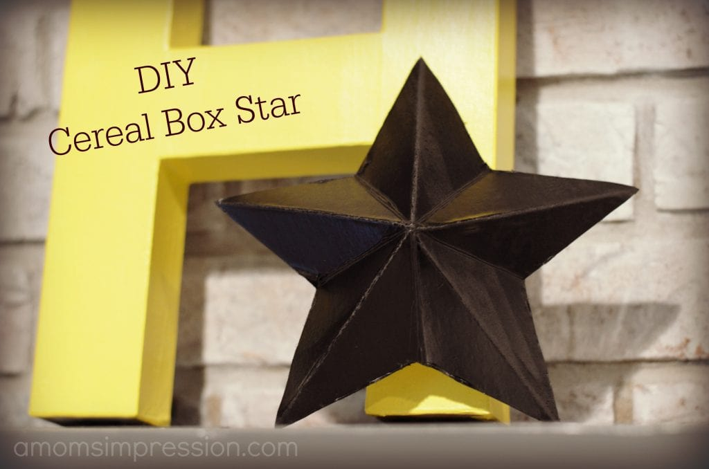 DIY Cereal Box Star