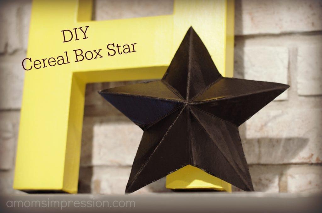 DIY Cereal Box Star