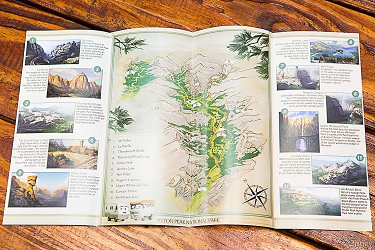 Piston Peak National Park Map