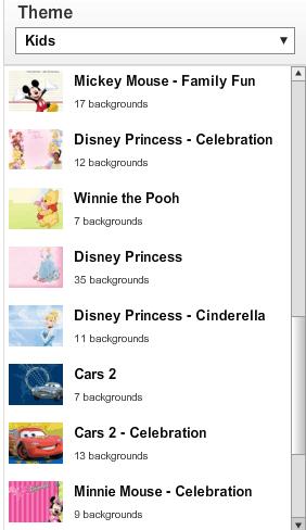 Disney Theme Choices