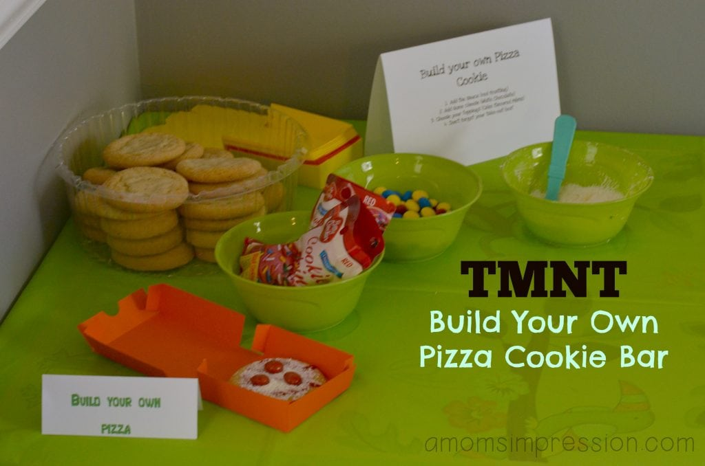 TMNT pizza cookies