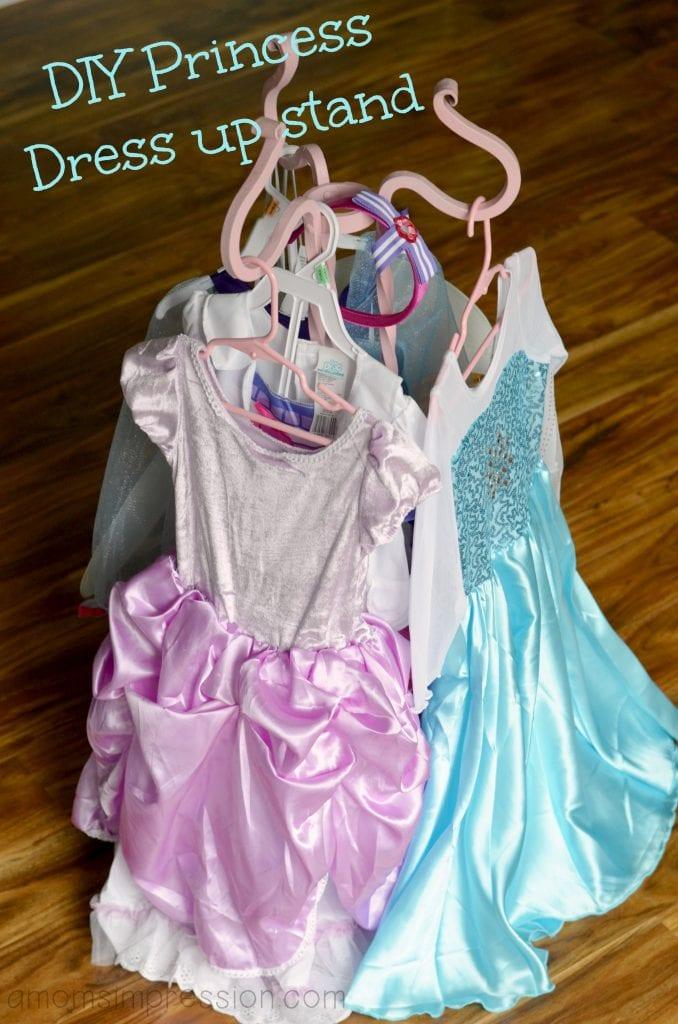 DIY Princess dress up stand
