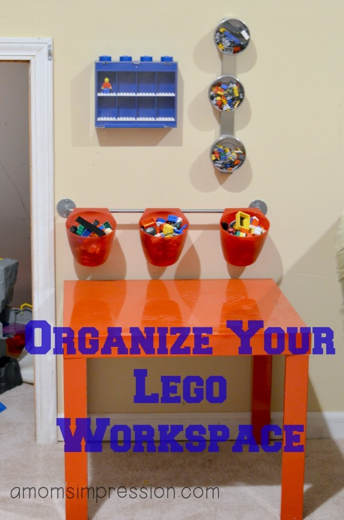 Organized Lego Workspace