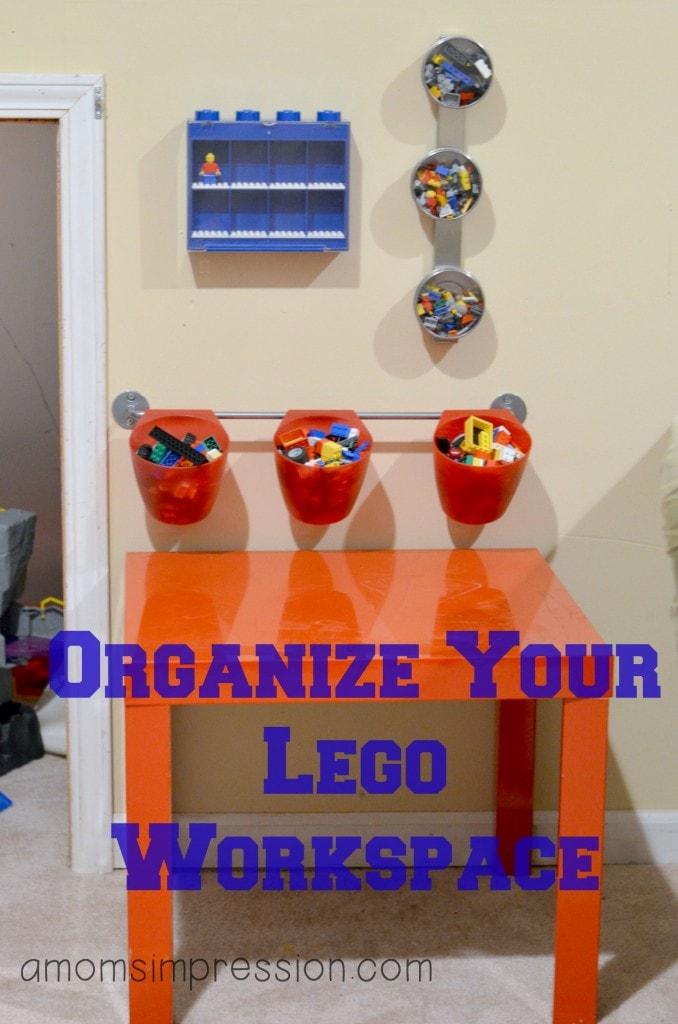 Organized Lego Workspace