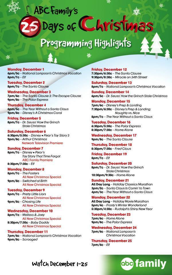 25-Days-of-Christmas-Schedule-2014