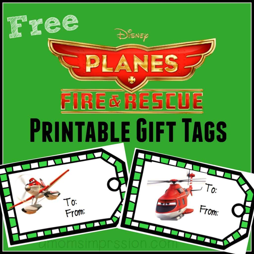 PLanes gift tags
