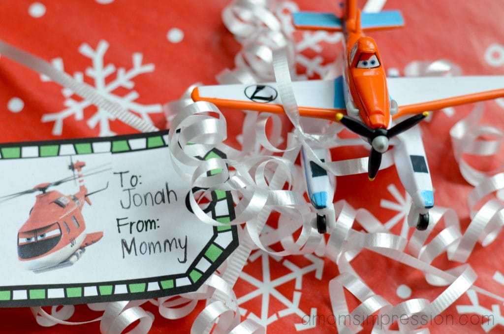 Planes Gift Tag Present
