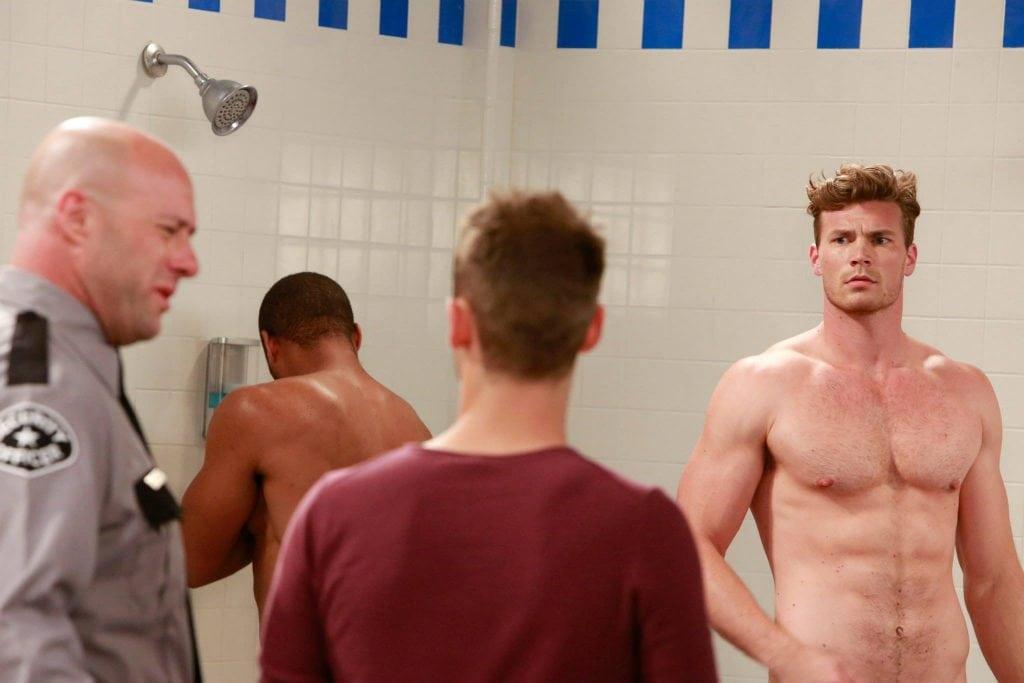 Baby Daddy shower scene