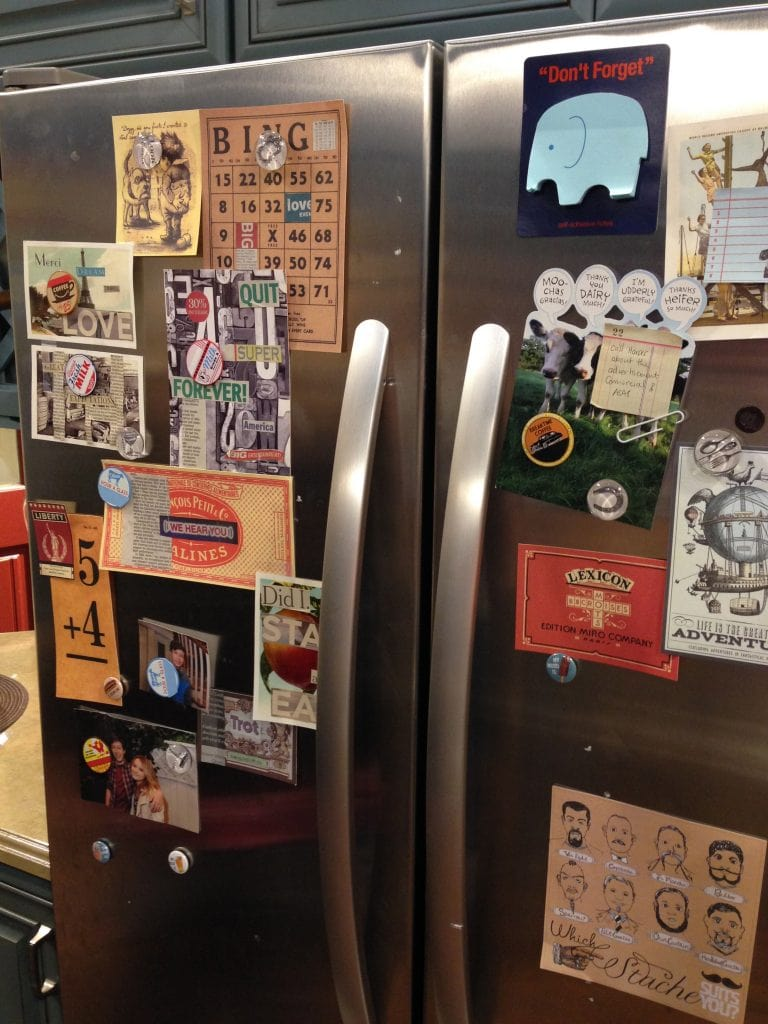 Fridge on the set of Melissa & Joey