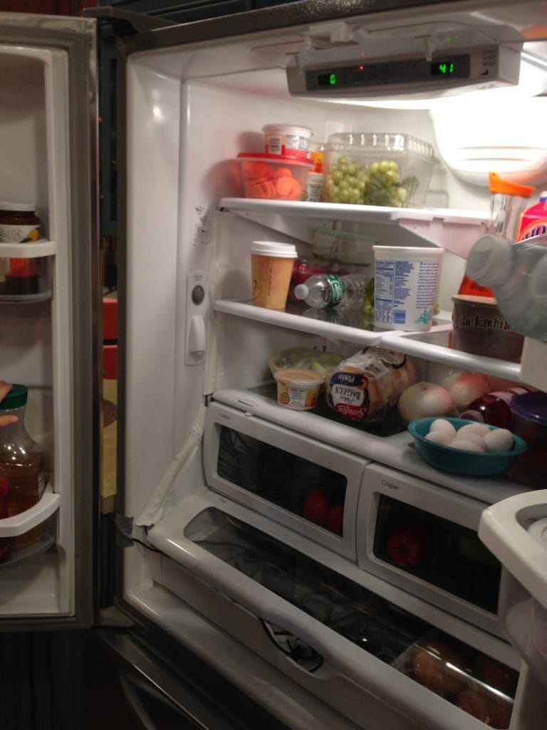 Inside the fridge of Melissa and Joey