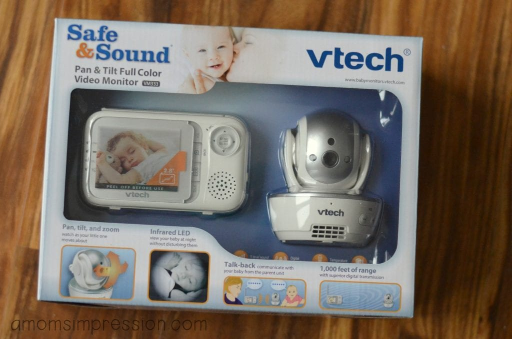 vtech safe sound pan tilt full color video baby monitor a mom 39 s impression resource for. Black Bedroom Furniture Sets. Home Design Ideas