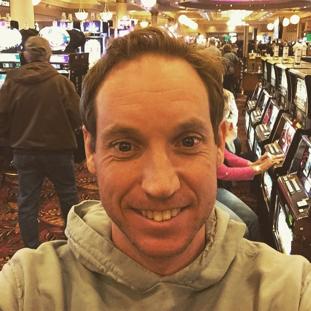 My husband's casino selfie!