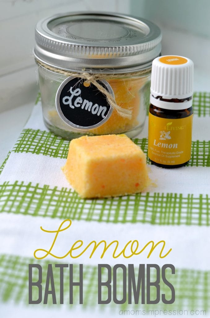 These Lemon Bath Bombs are super easy to make and smell amazing in the bath. The lemon essential oil is perfect for spring for both adults and children!