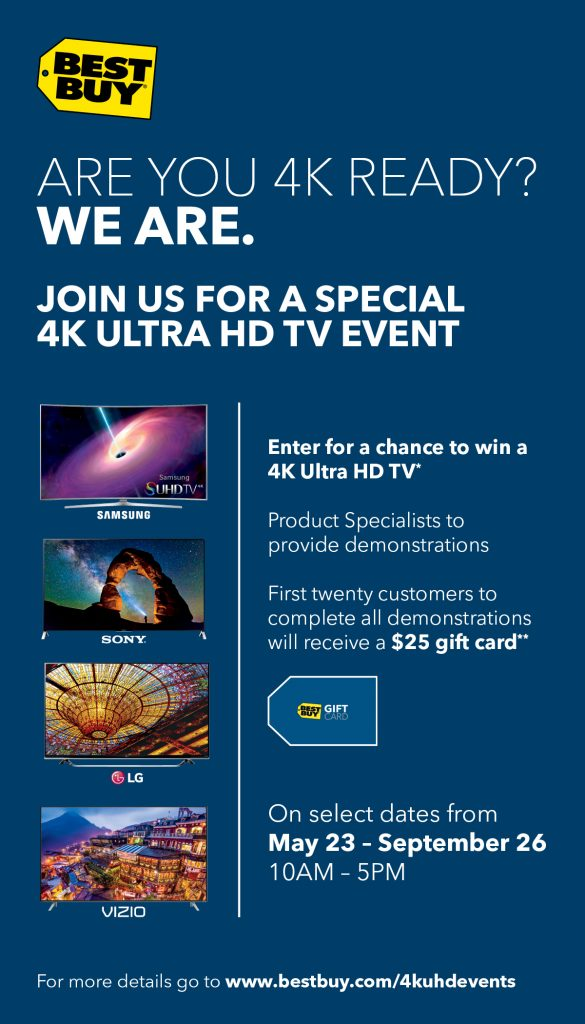4K Ultra HD at Best Buy